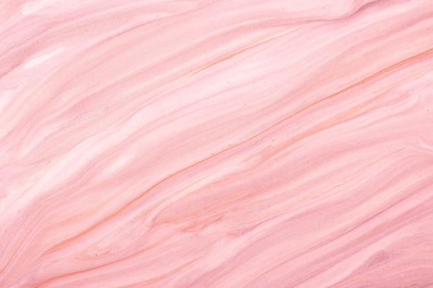 Arte fluida abstrata fundo rosa claro e cores rosa. mármore líquido. pintura acrílica sobre tela com gradiente lilás