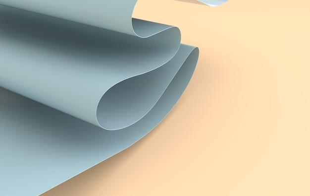 Arte moderna em papel abstrato