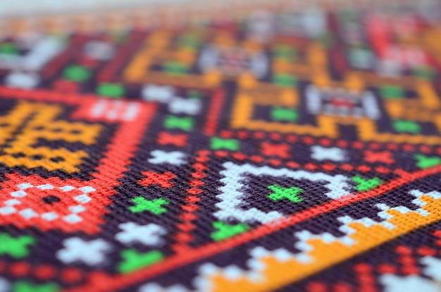 Arte popular ucraniana tradicional de malha bordado em tecido têxtil