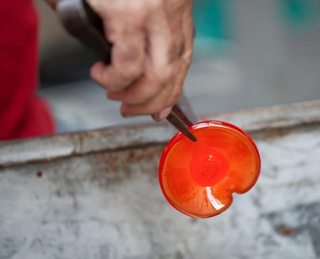 Artesanal de sopro de vidro