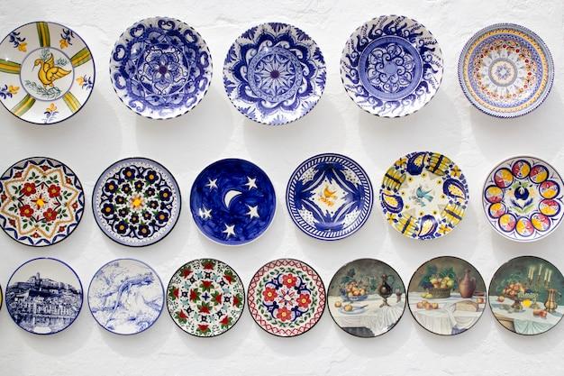 Artesanato de placas de cerâmica mediterrâneo ibiza