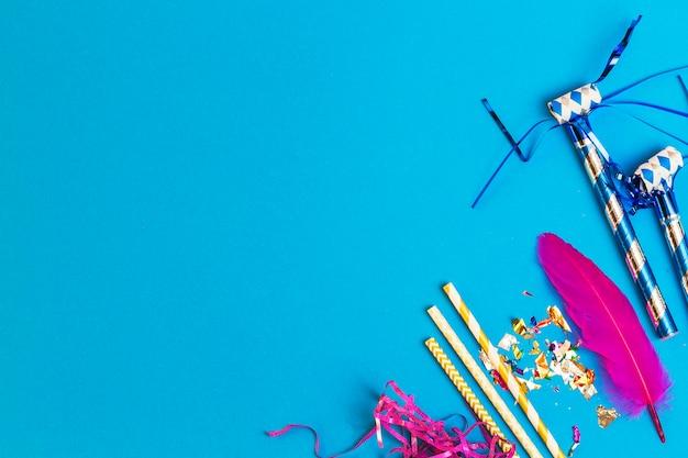 Artigos de festa em azul