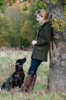 Árvore cães ao ar livre mans labrador amigo