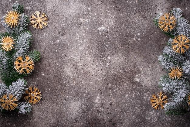 Árvore de natal eco decoração de palha