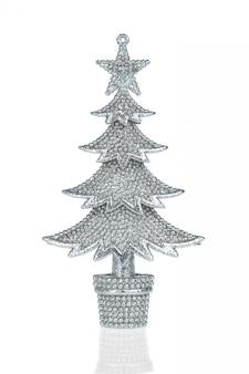 Árvore de pele de natal prata