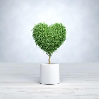 Árvore em forma de coração, dia dos namorados