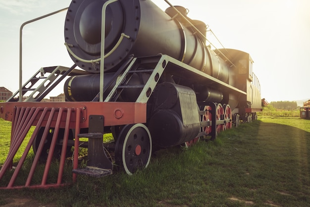 As antigas locomotivas a vapor foram exibidas no parque