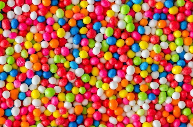 As bolachas coloridas acumularam açúcar para fazer padarias