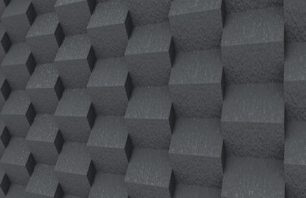 As caixas quadradas de pedra escuras aleatórias abstratas empilham o fundo do projeto da parede.