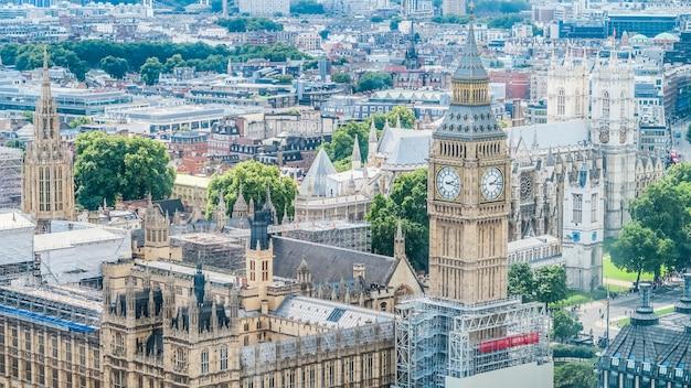 As casas do parlamento e bigben em londres