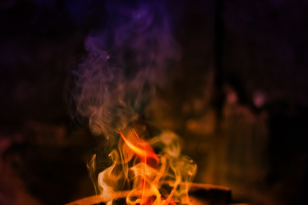 As chamas estão queimando no forno. chamas ardentes queimam no forno.
