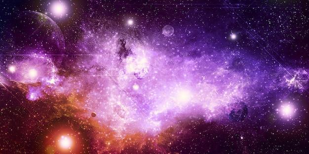 As cores das nebulosas incontáveis estrelas ilustração 3d do universo abstrato da fantasia