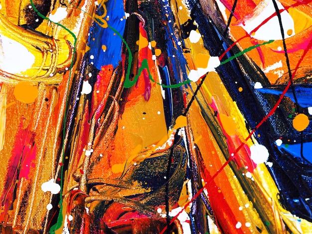 As cores doces coloridas da gota do respingo do curso da escova da pintura de óleo abstraem o fundo e a textura.