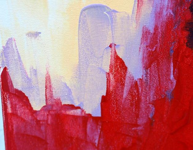 As cores doces coloridas da pintura de óleo abstraem o fundo e a textura.