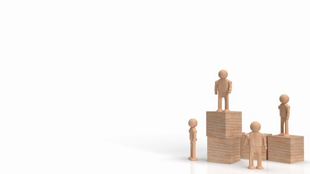 As figuras de madeira e cubos de madeira