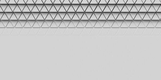 As formas geométricas em 3d da vista superior copiam o fundo do espaço