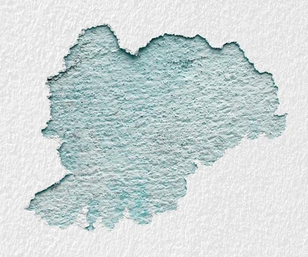 As paredes de gesso branco descolam. textura de gesso verde vintage.