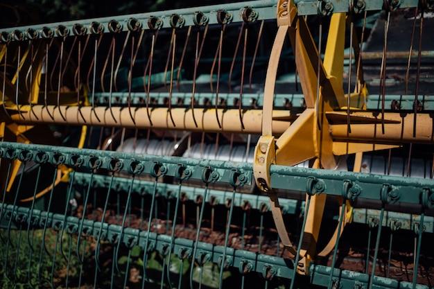 As peças de aço da máquina colheitadeira