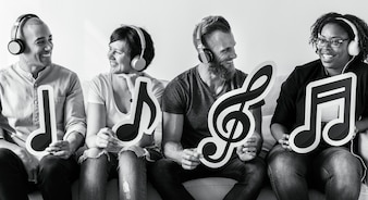 As pessoas gostam de música em fones de ouvido
