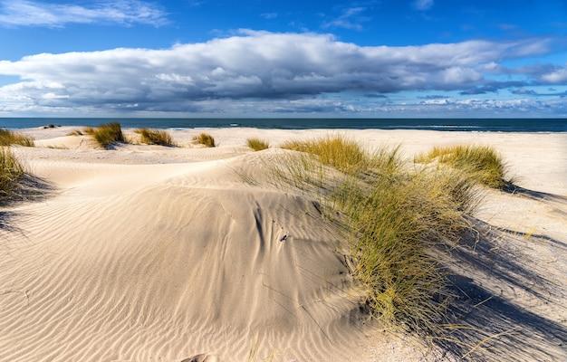 As praias desertas na primavera