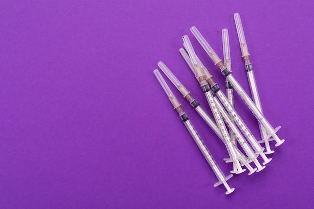 As seringas de 1 ml isolaram um