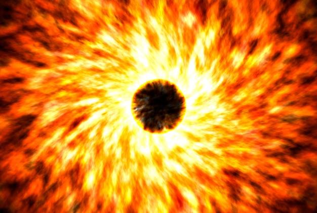 As supernovas são uma estrela brilhante no espaço. explosão de grandes quantidades de energia. fundo