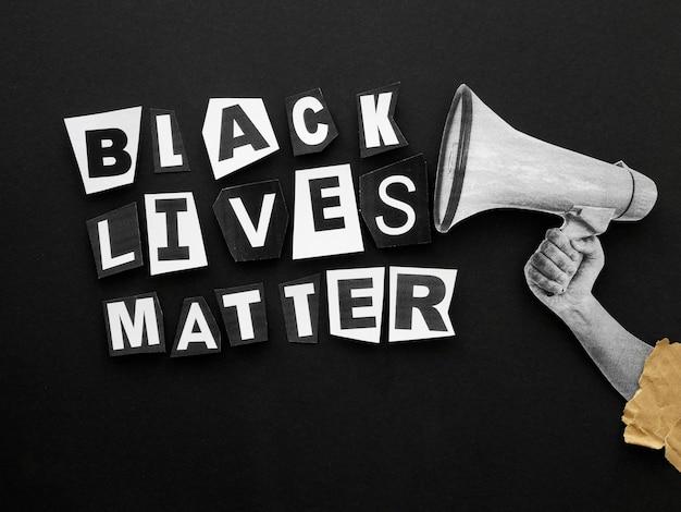 As vidas negras importam o movimento acima da vista