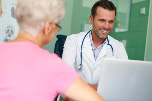 As visitas neste médico sempre são um prazer