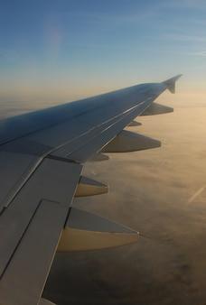 Asa de avião em voo