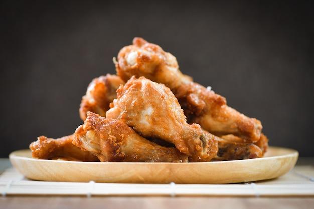 Asa de frango frito