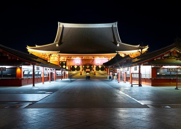 Asakusa sensoji templo na noite