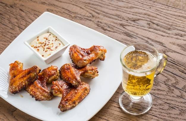 Asas de frango assadas com molho picante