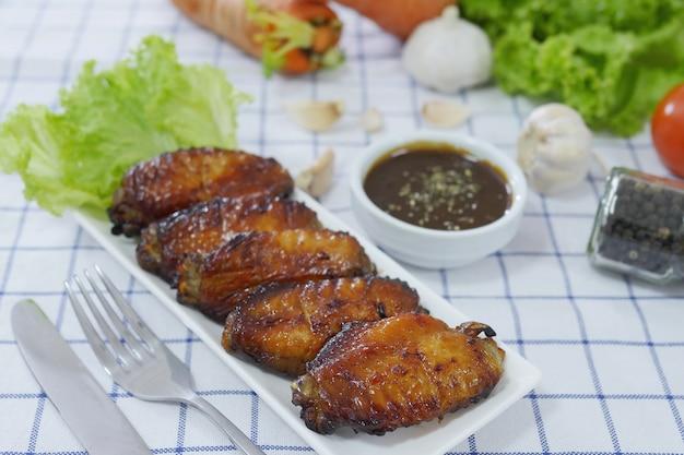 Asas de frango assado