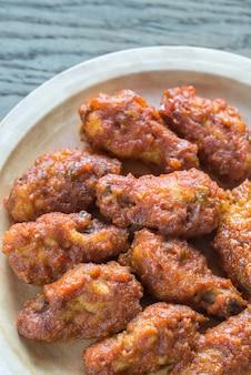 Asas de frango frito