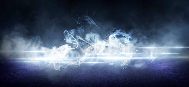 Asfalto úmido, reflexo de luzes de néon