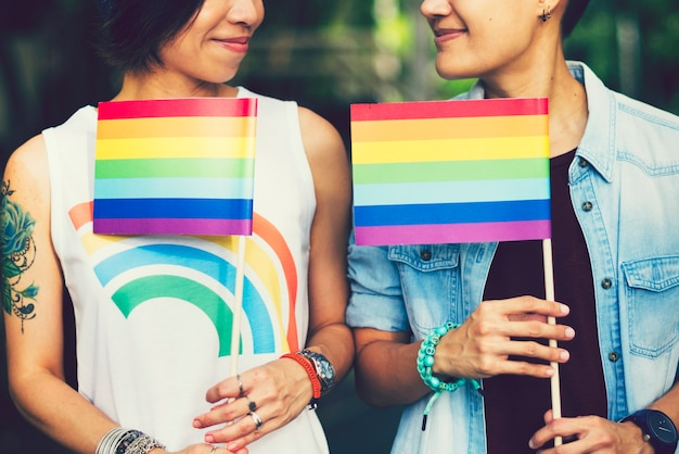 Asian lgbt casal apaixonado
