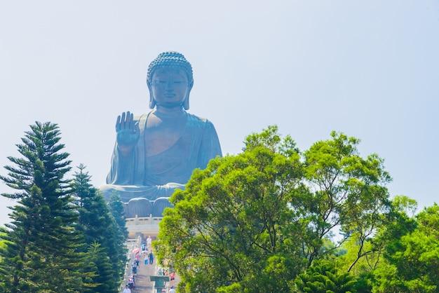 Asiático hong kong lotus estátua oriental