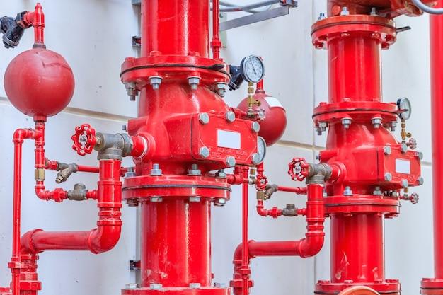 Aspersão de água e sistema de alarme de incêndio, sistema de controle de aspersão de água