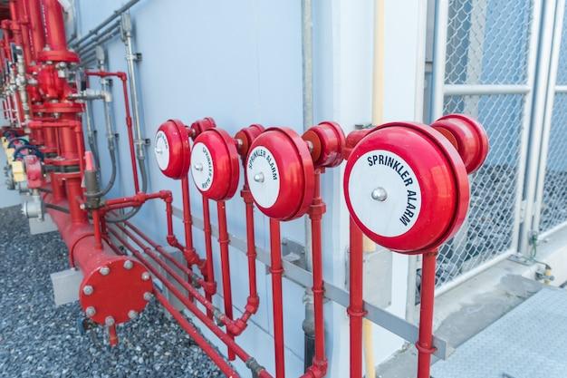 Aspersor de água e sistema de alarme de incêndio, sistema de controle de aspersão de água e tubulações industriais.