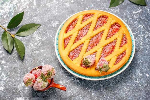 Assado geleia de morango torta bolo doces pastelaria