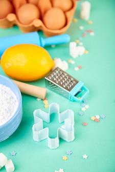 Assar ou cozinhar ingredientes. quadro de padaria