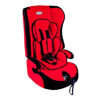Assento de carro de bebê isolado no branco