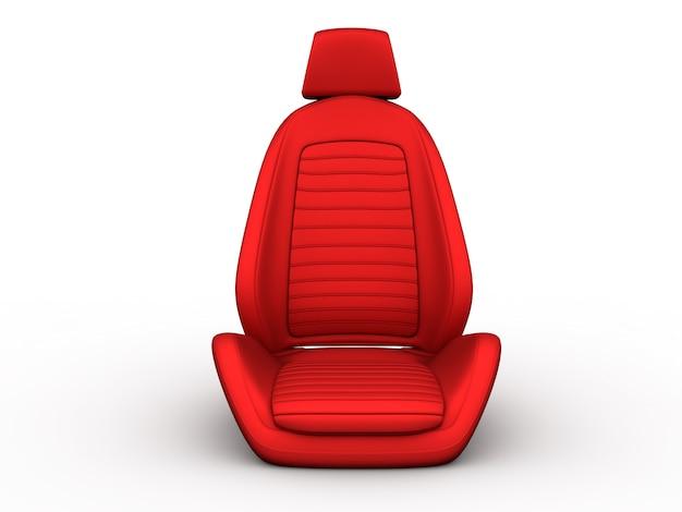 Assento de carro vermelho da frente