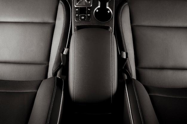 Assentos de carro de luxo com vista superior interior