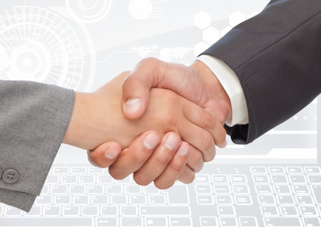 Assinam acordo alegria relação do profissional