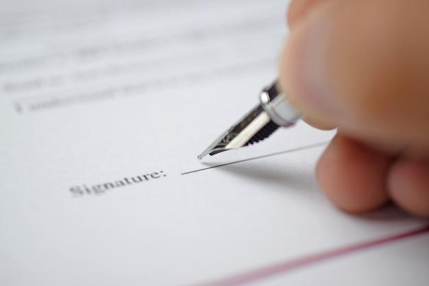 Assinando um formulário