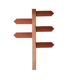 Assine a madeira isolada no fundo branco.