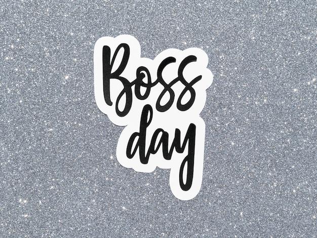 Assine com celebração do dia do chefe