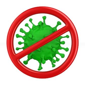 Assine parar vírus em branco.