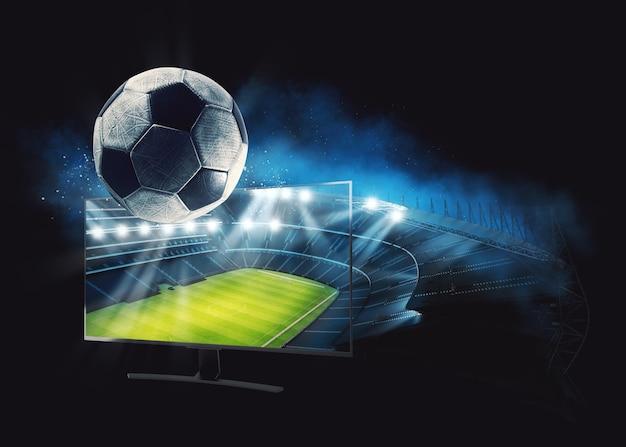 Assista a um evento esportivo ao vivo em sua televisão em alta definição